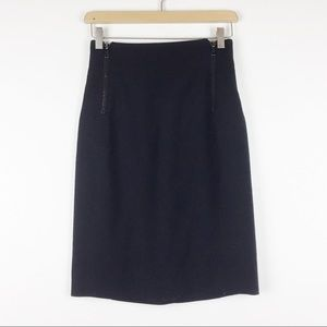 Vintage Holt Renfrew wool mini skirt with zippers